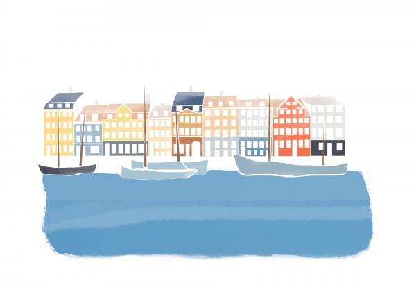 Illustration de voyage Copenhague