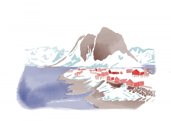 Illustration de voyage Norvège