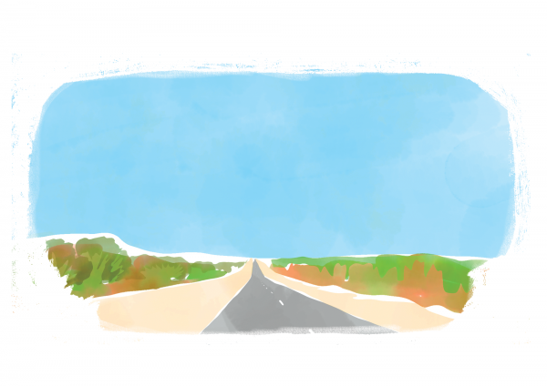 Illustration de voyage Exmouth